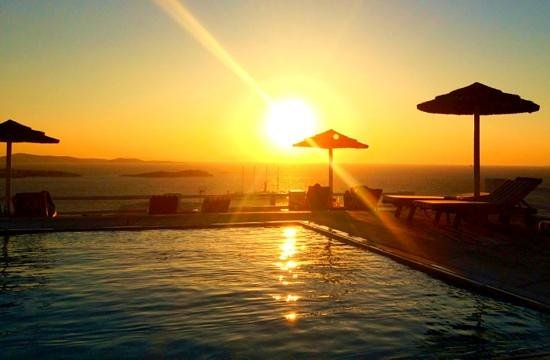 poolside sunset view, Alkyon Hotel