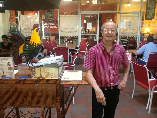 Bon Appetit French Bistro : Lovely French Gentleman Greeter