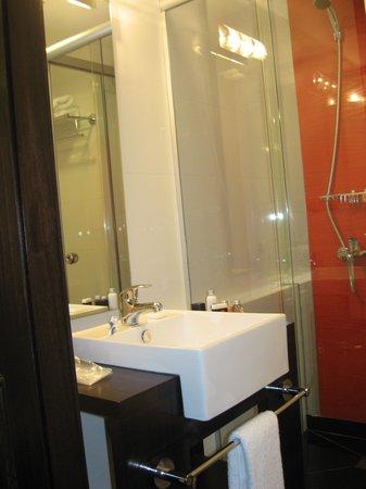 Puerto Mercado Hotel: Lavabo del baño