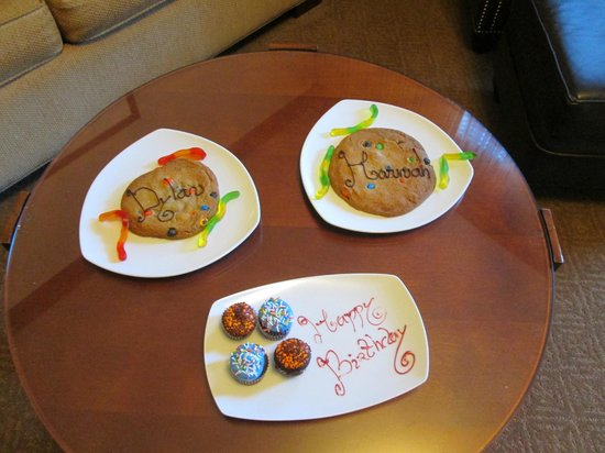 Four Seasons Resort and Residences Whistler: Kids welcome amenity and birthday cupcakes for my husband