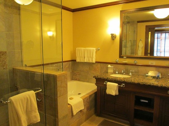 Four Seasons Resort and Residences Whistler: One of 2 bathrooms in the executive suite