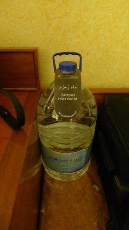 InterContinental Dar Al Tawhid : Complimentary Zam Zam water bottle