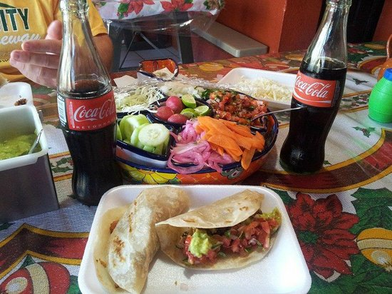 Tacos Guss: 5 Tacos and two cokes $11.75! Was a great cheap lunch