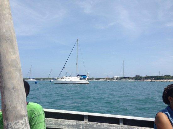 """Bongoyo Island: leaving the mainland """"slipway"""""""