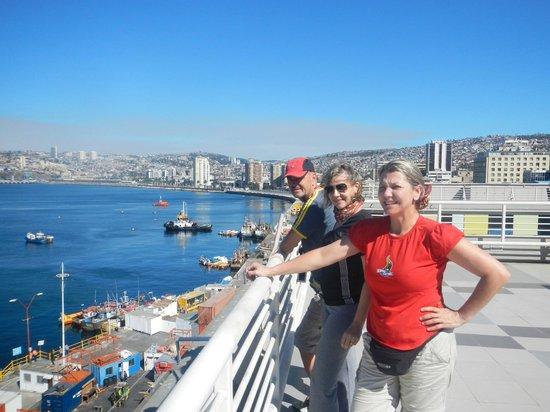 Ibis Valparaiso : Parte superior do hotel.