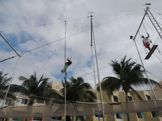Viva Wyndham Maya : El trapecio que tiene muy bueno
