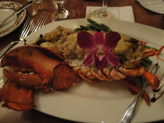 Sasso's International Cuisine: Seafood Stuffed Grilled Lobster special at Sasso's in Marco Island