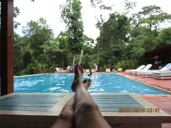 La Cantera Jungle Lodge: esta es la vista desde el quincho