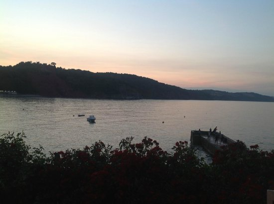 Sunset on Babbacombe as seen from Cary Arms patio