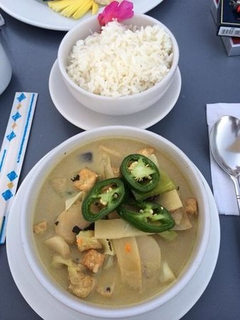 Mezzanine Colibri Boutique Hotel: green Curry. Excellent!