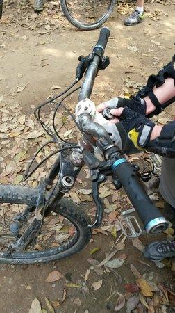 Chiang Mai Mountain Biking & Kayaks : See the worn through grips
