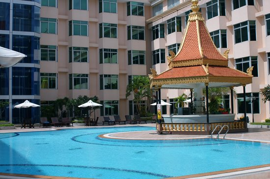 the Pool Deck at the Phnom Penh Hotel ,