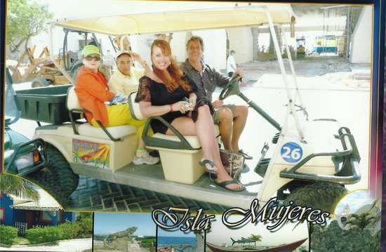 Villa del Palmar Cancun Beach Resort & Spa: Golf carts at Isle Mujeres