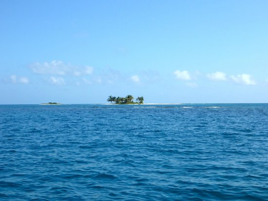 The Silk caye you visit is the one on the right