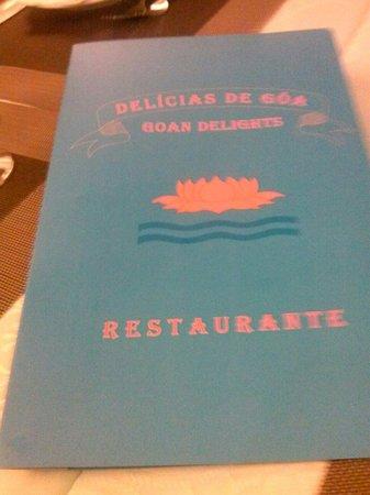 Delicias De Goa: Menu