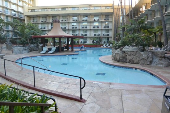 Los Angeles Airport Marriott : The pool Daytime