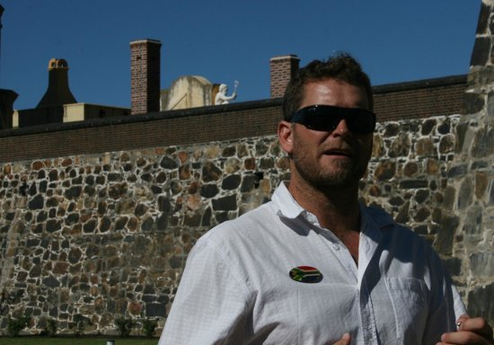 African Blue Day Tours: David Smith at Castle of Good Hope Fort, Cape Town