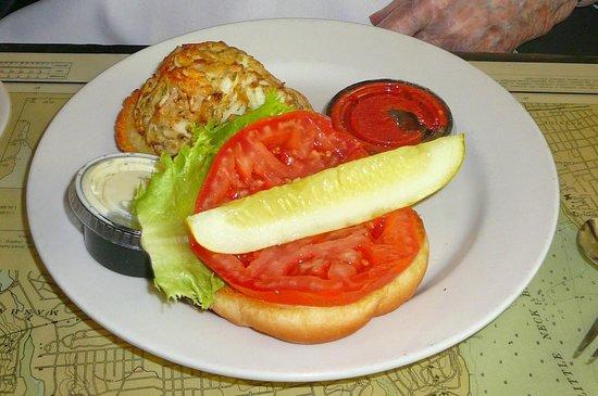 Suicide Bridge Restaurant: Crab Cake Sandwich