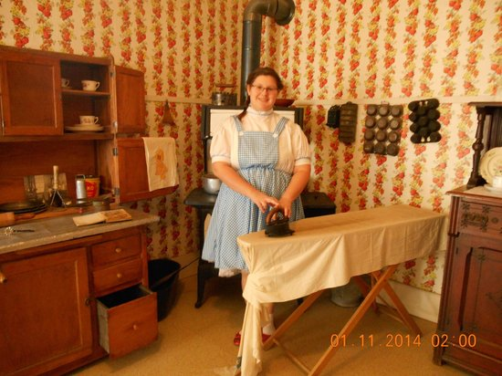 Dorothy's House/Land of Oz: Dorothy ironing in the kitchen