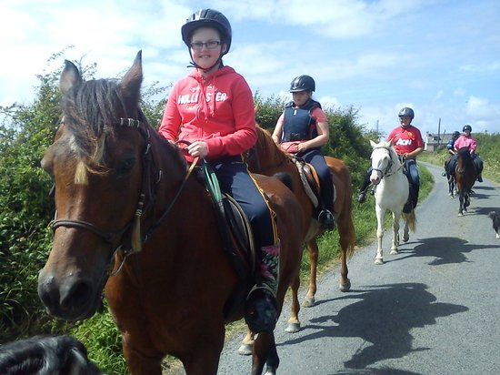 Carmen's Riding School : Out hacking on our quiet country roads
