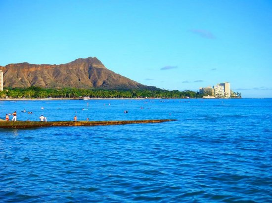 The New Otani Kaimana Beach Hotel: This is a picture of the hotel from Waikiki beach