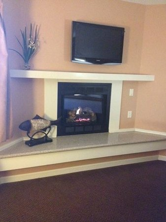 Mariposa Inn and Suites: The fireplace in the king suite