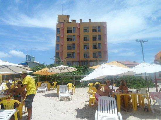 Palm Beach Apart Hotel: vista del hotel desde la playa