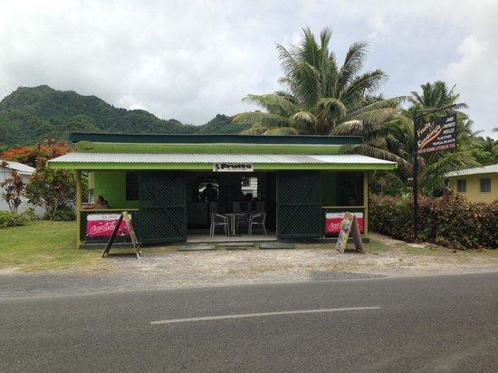 Fruits of Rarotonga: From across the road.