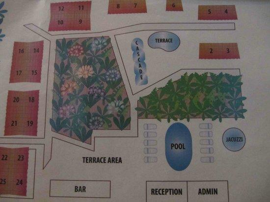 Falls Resort at Manuel Antonio: Resort Layout