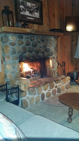 Sleepy Forest Cottages: Nice and cozy fire....