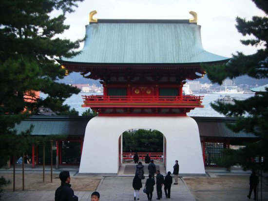 Akama Shrine: View from inside the grounds