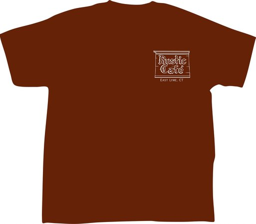 Rustic Cafe T-shirt (front)
