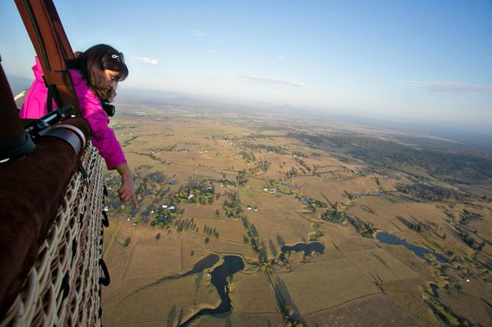 Hot Air Balloon Gold Coast: a chinese tourist gazing over