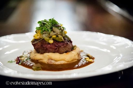 Union Grille: Herb Crusted Yellowstone Filet Mignon