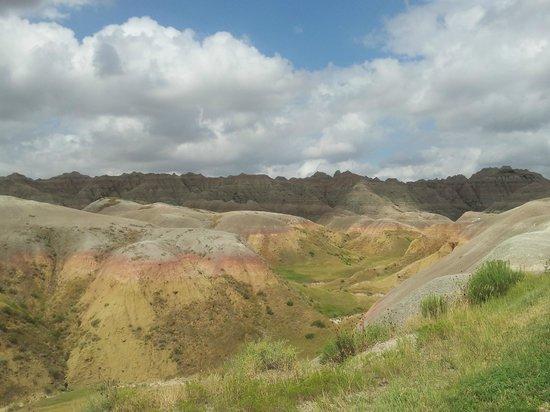 Badlands Wall: So many, many colors