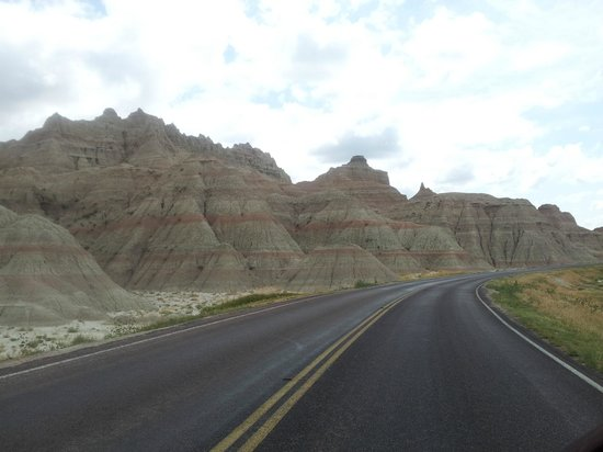 Badlands Wall: You just drive through on the road like this, but so many twists,turns and different perspective