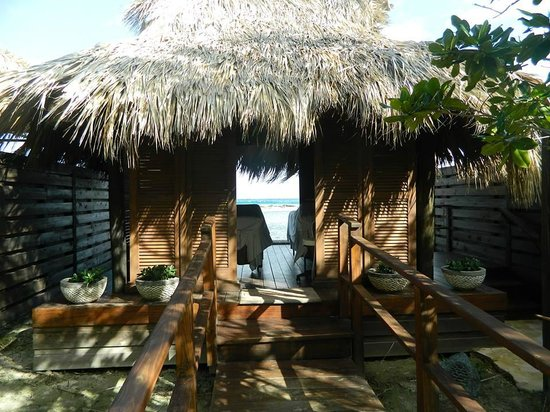 Sandals Royal Caribbean Resort and Private Island: private cabana for massages on the island!