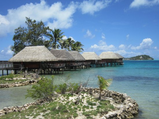 Sofitel Bora Bora Marara Beach Resort : The overwater bungalows