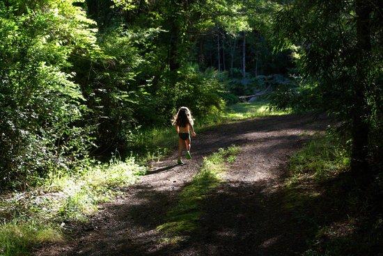 Club Los Ulmos: La pequeña disfrutando del bosque