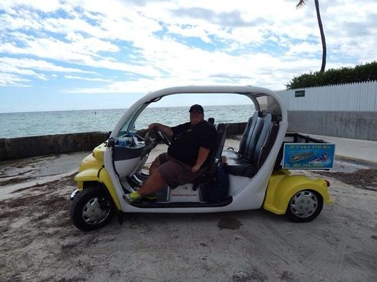 SunShine Scooters: looking good in our electric car