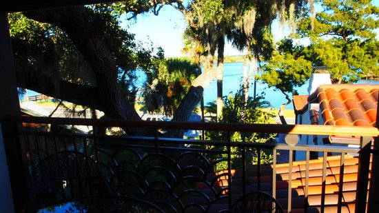 Black Dolphin Inn : Private balcony view, watch the dolphins!