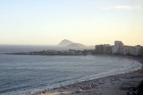 JW Marriott Hotel Rio de Janeiro: View of Forte de Copacabana from 18th floor