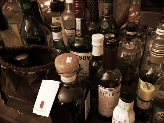 The Burnt Toast Inn: decent selection of liquor, free to drink