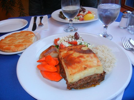Asteras Greek Taverna : ベジタリアンプレート