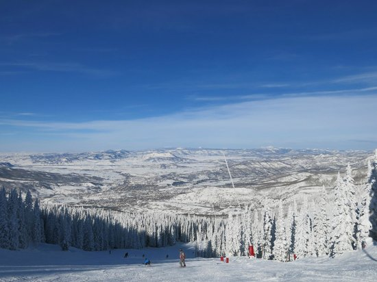 Steamboat Ski Resort: View down the mountain