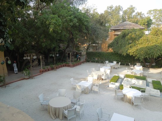 Ajit Bhawan : Outside dining area