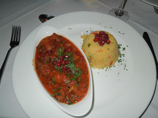 Ajit Bhawan : Lamb Tagine from the menu