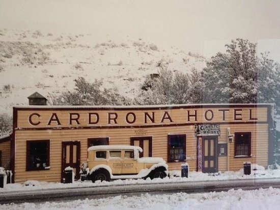 Cardrona Hotel in winter
