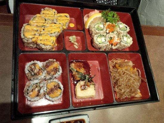 bento box picture of oja noodle house toronto tripadvisor. Black Bedroom Furniture Sets. Home Design Ideas