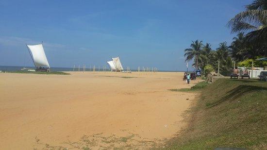 Rani Beach Resort: Beach view from the Hotel's pool area